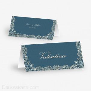 Tischkarte Aufsteller Floral Lace 2 10 x 4.5 cm