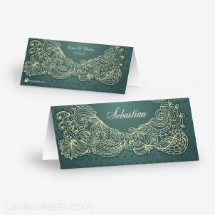 Tischkarte Aufsteller Floral Lace 10 x 4.5 cm