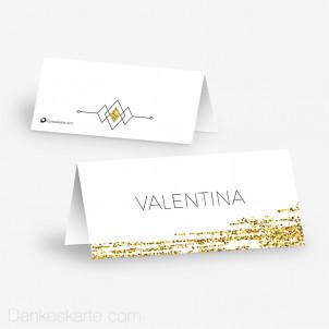 Tischkarte Aufsteller Golden Glitter 10 x 4.5 cm