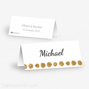 Tischkarte Aufsteller Goldschimmer 1 10 x 4.5 cm