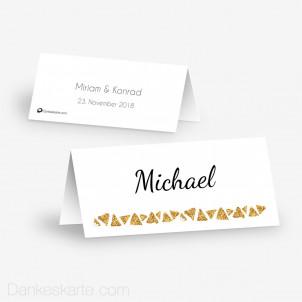 Tischkarte Aufsteller Goldschimmer 2 10 x 4.5 cm