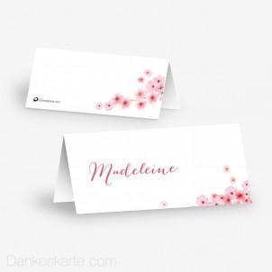 Tischkarte Aufsteller Kirschblüten 10 x 4.5 cm