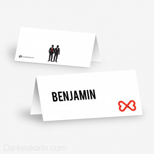 Tischkarte Aufsteller Mr&Mr 10 x 4.5 cm