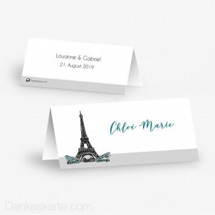 Tischkarte Aufsteller Pariser Chic 10 x 4.5 cm