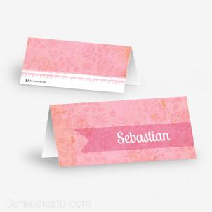 Tischkarte Aufsteller Pink Stamp 10 x 4.5 cm
