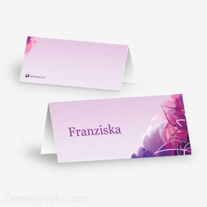 Tischkarte Aufsteller Pinke Versuchung 10 x 4.5 cm