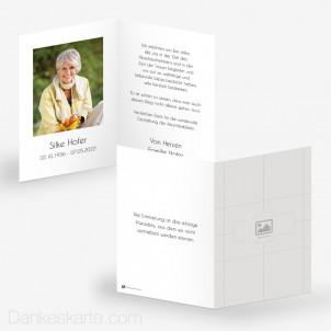 Trauerkarte Schlicht 10 x 15 cm