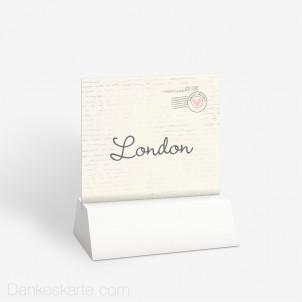 Tischnummer Air Mail 10 x 9 cm