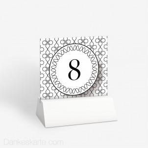 Tischnummer Black and White 10 x 9 cm