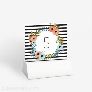 Tischnummer Blütenzauber 10 x 9 cm