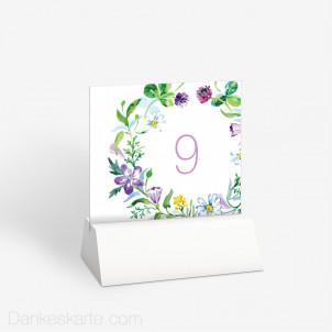 Tischnummer Blumendekor 10 x 9 cm