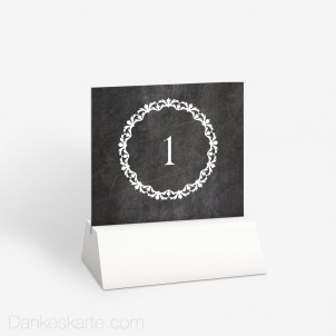 Tischnummer Chalkboard 10 x 9 cm