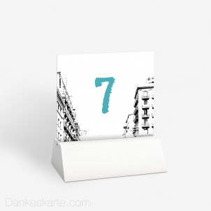 Tischnummer City Love 10 x 9 cm