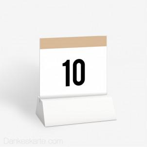 Tischnummer Event Ticket 10 x 9 cm