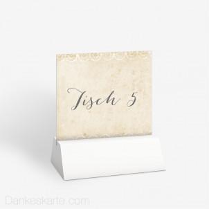 Tischnummer Fancy Lace 10 x 9 cm