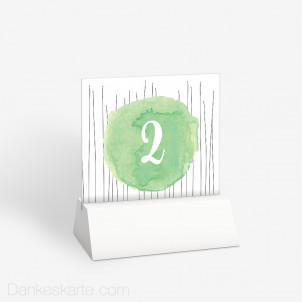Tischnummer Farbansage 10 x 9 cm