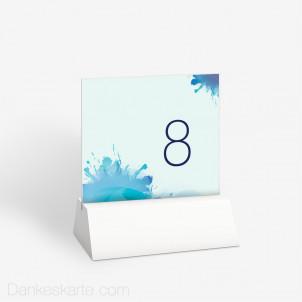Tischnummer Farbklecks 10 x 9 cm