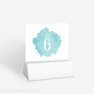 Tischnummer Farbtupfer 10 x 9 cm
