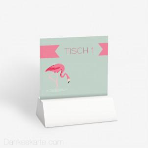 Tischnummer Flamingo 10 x 9 cm