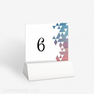 Tischnummer Fliessend 10 x 9 cm
