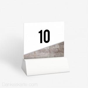 Tischnummer Glas und Kunst 10 x 9 cm