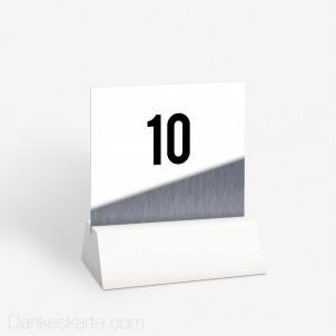 Tischnummer Glas und Metall 10 x 9 cm