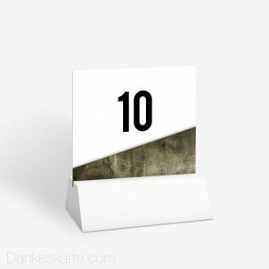 Tischnummer Glas und Stein 10 x 9 cm