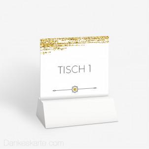 Tischnummer Golden Glitter 10 x 9 cm