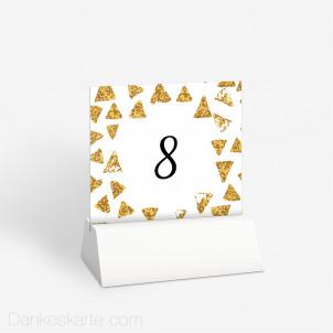 Tischnummer Goldschimmer 2 10 x 9 cm
