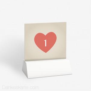 Tischnummer Herzensangelegenheit 10 x 9 cm