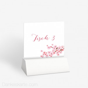 Tischnummer Kirschblüten 10 x 9 cm