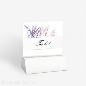 Tischnummer Lavendel Zweige 10 x 9 cm