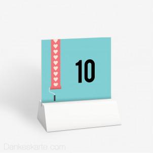 Tischnummer Love Letter 10 x 9 cm
