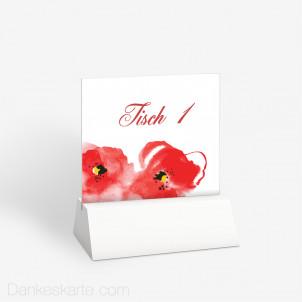 Tischnummer Mohnblumen 10 x 9 cm