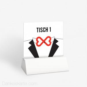 Tischnummer Mr&Mr 10 x 9 cm
