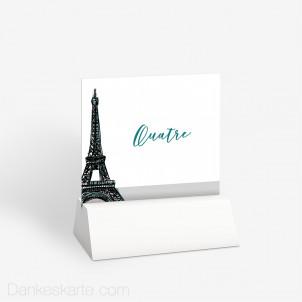 Tischnummer Pariser Chic 10 x 9 cm