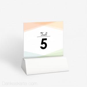 Tischnummer Pastellgeometrie 10 x 9 cm