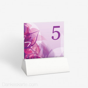 Tischnummer Pinke Versuchung 10 x 9 cm