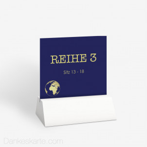 Tischnummer Reisepass Globus 10 x 9 cm