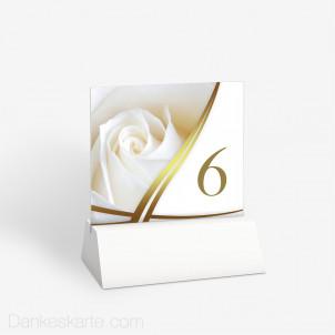 Tischnummer Semi Gold 10 x 9 cm