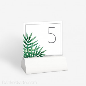 Tischnummer Tropical 10 x 9 cm