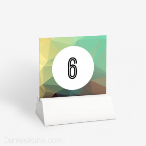 Tischnummer Unendliche Liebe 10 x 9 cm