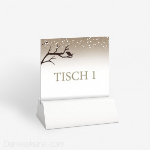 Tischnummer Verschneit 10 x 9 cm