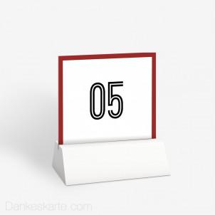 Tischnummer Wedding Ticket 10 x 9 cm
