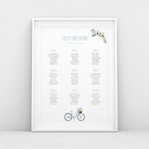 Sitzplan Bicycle Love
