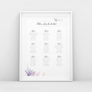 Sitzplan Lavendel Zweige