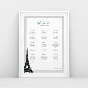 Sitzplan Pariser Chic