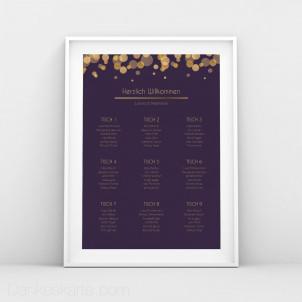 Sitzplan Purple Gold