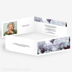 Trauerkarte Grenzenlos 21 x 10 cm