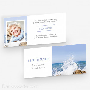 Trauerkarte Himmelwärts 21 x 10 cm